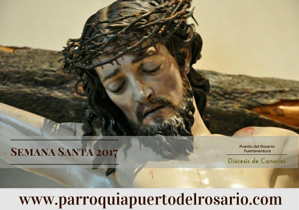 Programación de Actos Religiosos con motivo de la Semana Santa