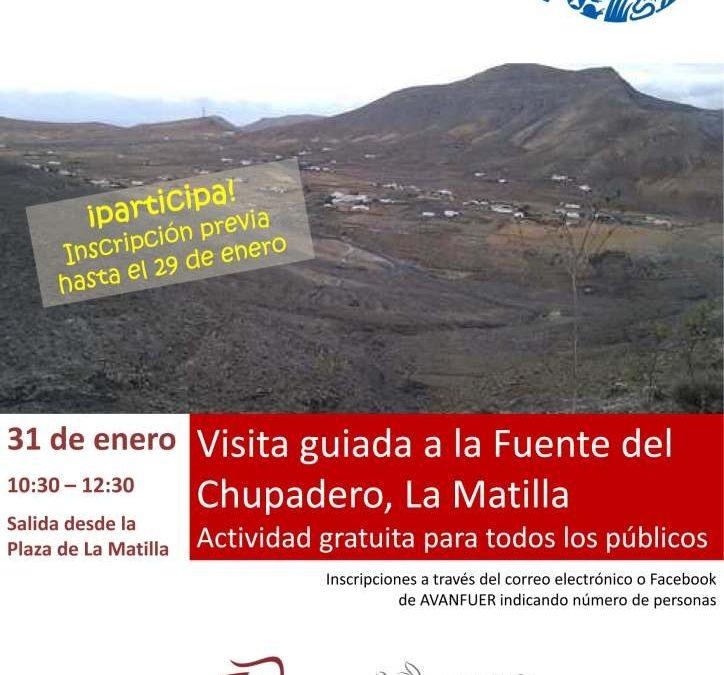 Visita guiada a las Fuentes del Chupadero en La Matilla
