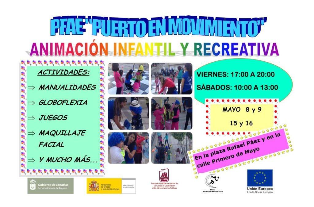 Animación infantil y recreativa los fines de semana de mayo