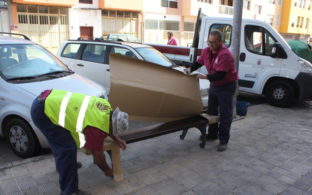 50 nuevos bancos para las calles de Puerto