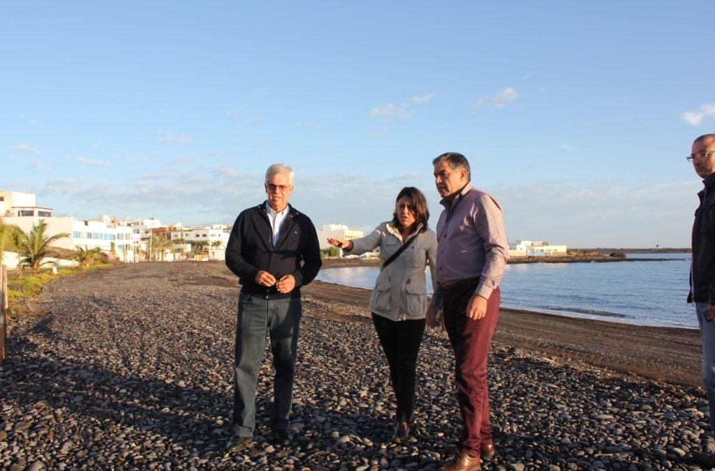 Finalizan las obras de mejora en la playa de Puerto Lajas