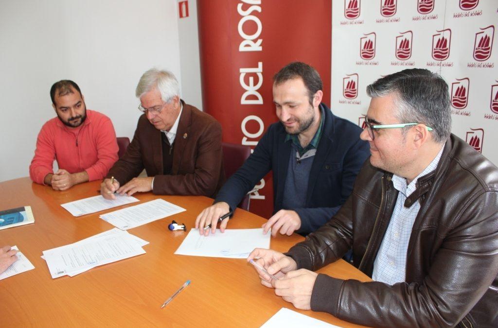 Firma del contrato para  las obras de acondicionamiento de la piscina