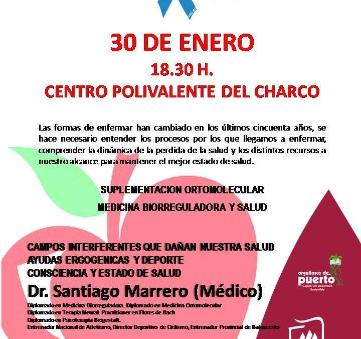 Charla  del médico Santiago Marrero. Entrenador Nacional de Atletismo