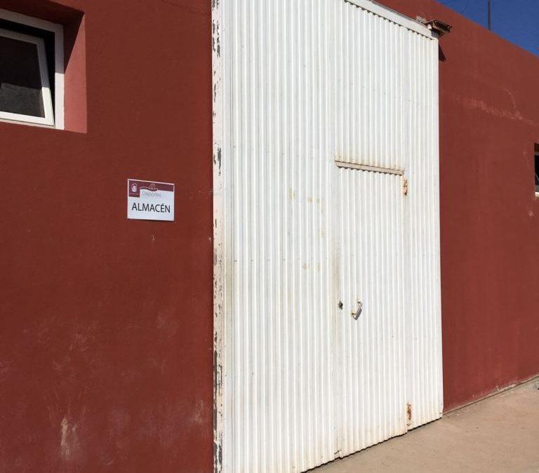 Cierre del Almacén/Gimnasio de la cancha de Risco Prieto