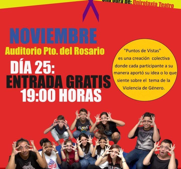 Teatro realizado por jóvenes de secundaria contra la Violencia de Género