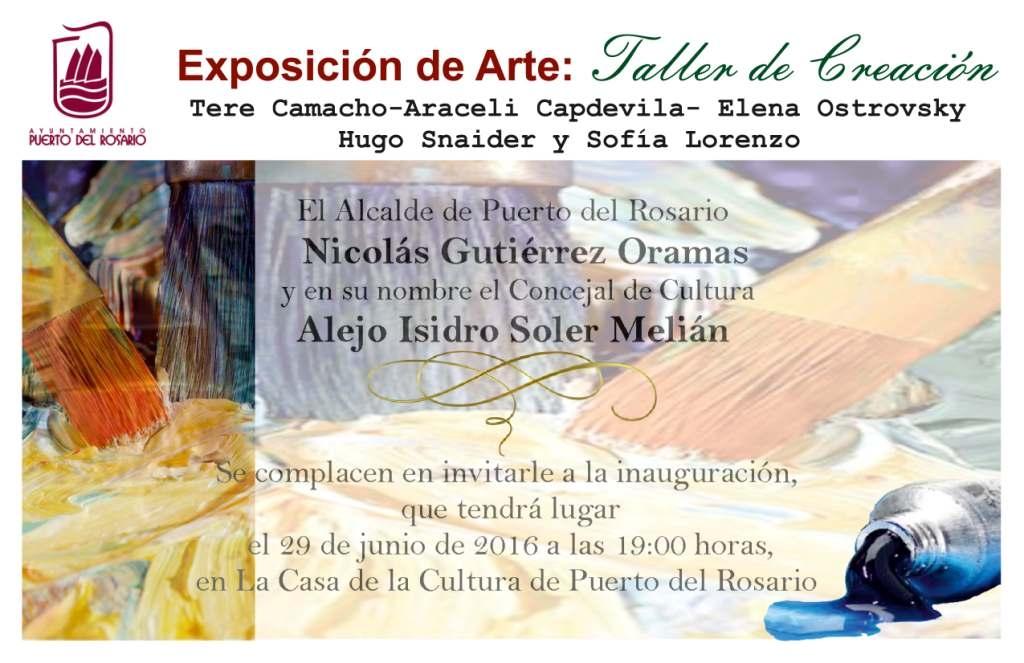 Miércoles, 29 de junio, 19:00h, Casa de la Cultura. Exposición Colectiva