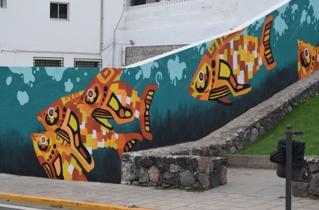 » Contracorriente», nuevo mural en las calles de Puerto