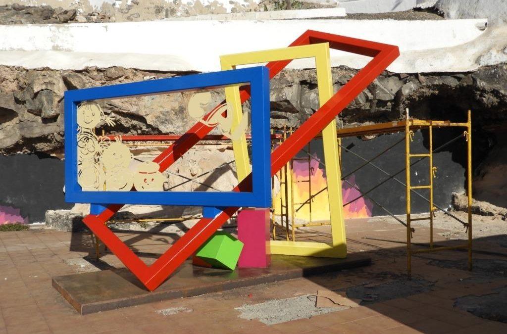 Se inaugura la escultura «Juego de niños» dentro del proyecto CAI