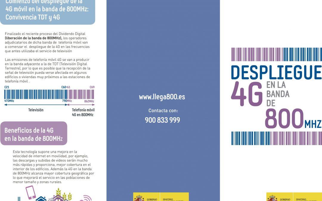 Información de interés ciudadano sobre el despliegue de los servicios 4G