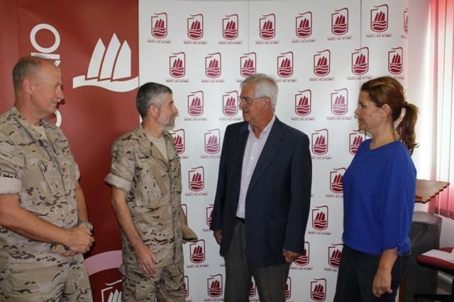 Visita protocolaria de altos mandos militares al Ayuntamiento de Puerto del Rosario