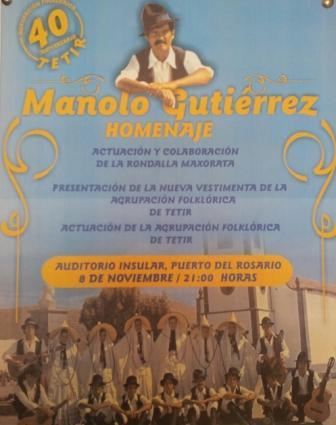 La Agrupación Folclórica de Tetir celebra su 40 aniversario en el Auditorio Insular