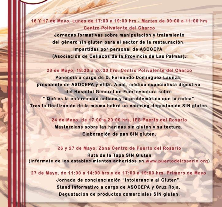 Semana de la Celiaquía en Puerto del Rosario, desde el 16 al 27 de mayo