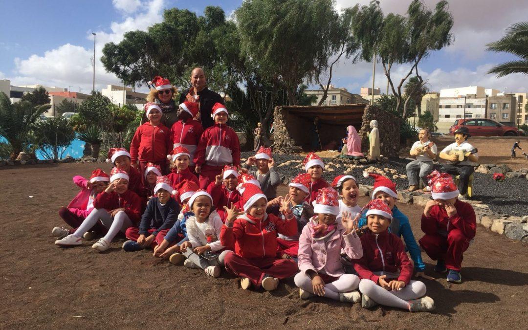 Más de 1.600 escolares visitarán el Belén Gigante