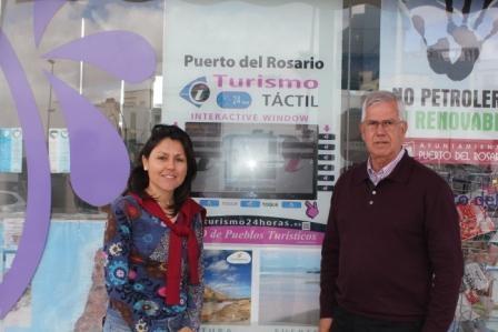 Nueva pantalla táctil de información turística en Puerto del Rosario