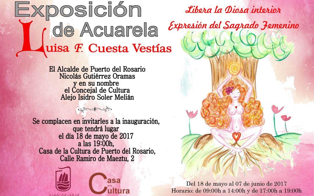 Exposición de Acuarela de Luisa F. Cuesta en la Casa de la Cultura
