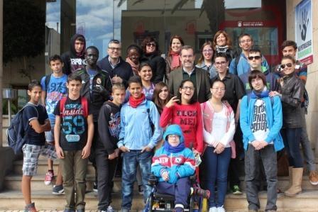 Visita de los alumnos del aula de acogida del IES Puerto del Rosario