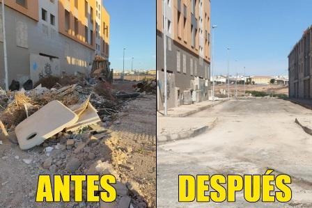 El Ayuntamiento ejecuta una campaña de limpieza integral en el barrio de Rosa Vila