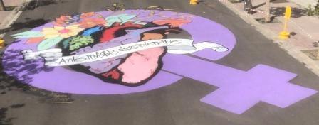 Puerto del Rosario conmemora el 8M con un mural dedicado a todas las mujeres 'Antes invisibles, ahora invencibles'