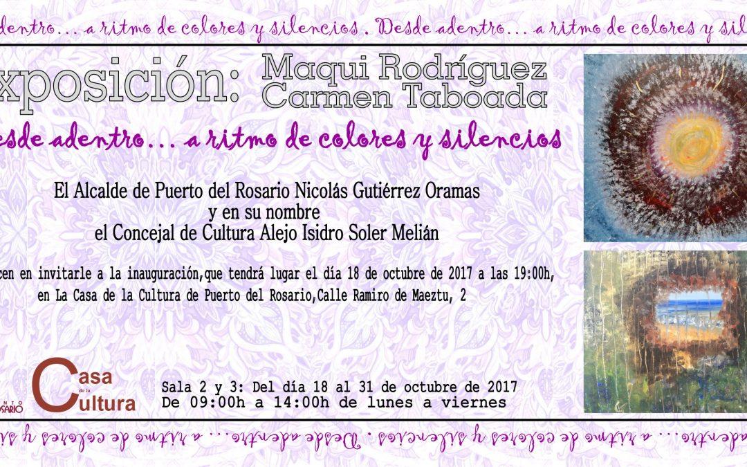 Exposición de Maqui Rodriguez y Carmen Taboada en la Casa de la Cultura municipal