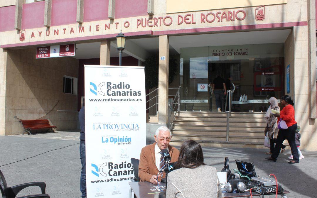 Ayer nos visitó Radio Canarias con la emisión en directo de «A diario»