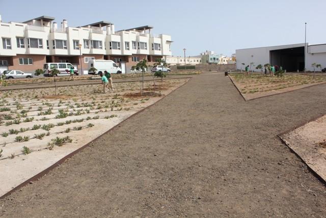 Puerto Verde continúa creando parques, jardines y zonas verdes en la capital