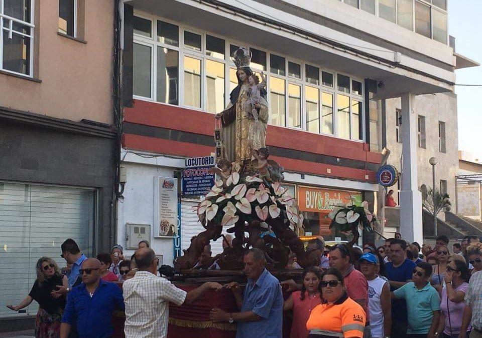 La procesión del Carmen en la capital, cada año con más participación