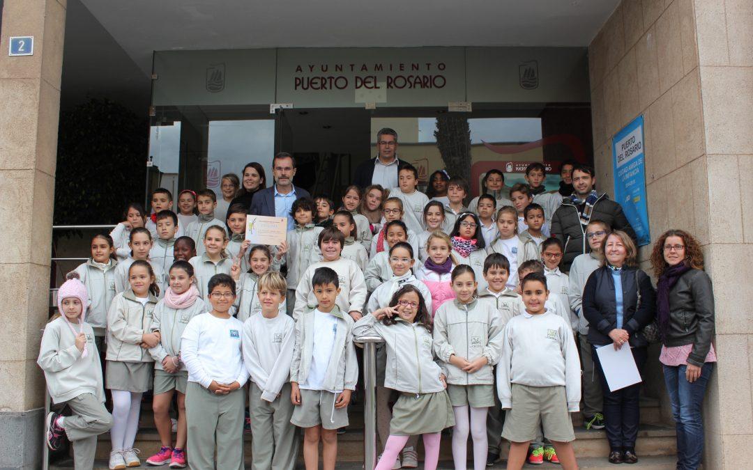 Visita del CEIP Millares Carlo dentro del programa «Mi Ayuntamiento».