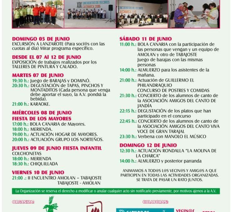 Encuentro Amolán-Tabajoste en el XX Encuentro Vecinal de La Charca
