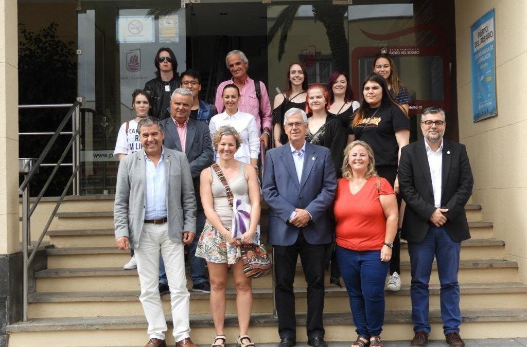 Visita de estudiantes daneses al Ayuntamiento de Puerto del Rosario