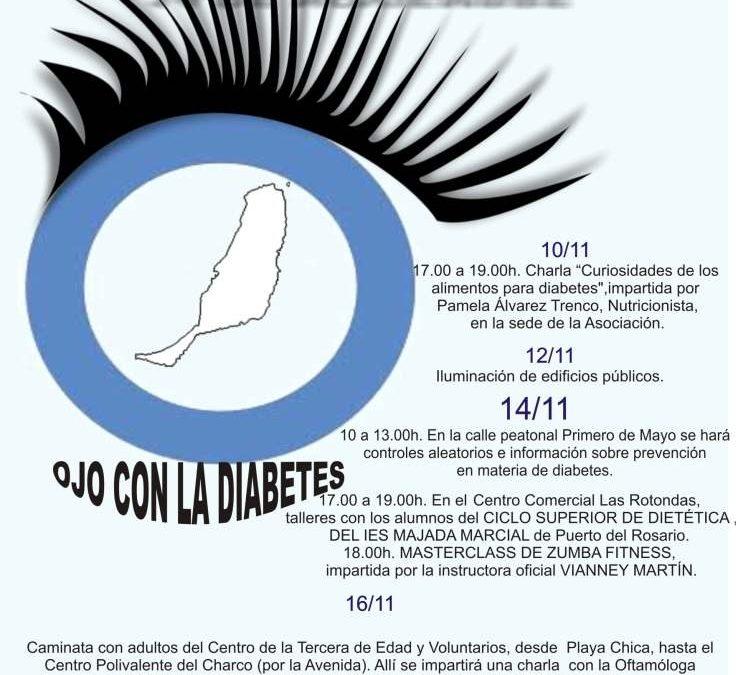 Jornadas sobre la diabetes en la celebración de su Día Mundial