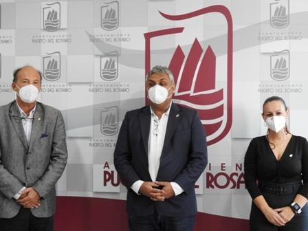 El alcalde Juan Jiménez recibe al nuevo cónsul de Argentina en Canarias, Luis María Sobrón