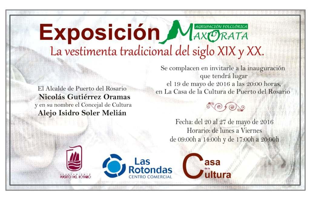Exposición de Vestimenta tradicional canaria de la A.F. Maxorata