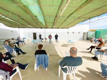 El alcalde, Juan Jiménez, y el concejal de Participación Ciudadana, David Perdomo, participan en el encuentro 'Espacio en Ruta'