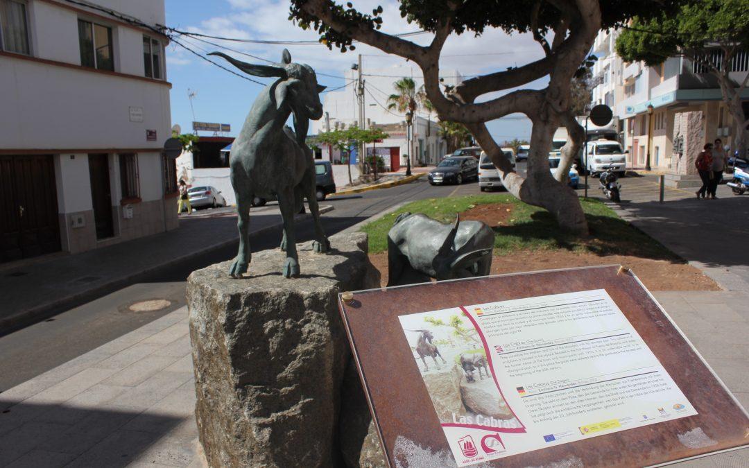 Renovación de los paneles informativos de las esculturas de «Puerto a pié».