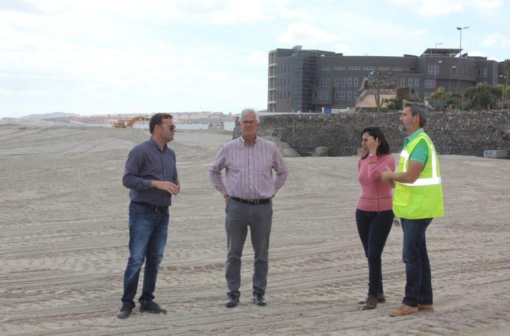 A punto de culminar las obras de ampliación de la Playa de Los Pozos