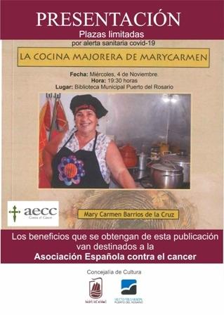 Puerto del Rosario presenta el libro 'La cocina majorera de Mary Carmen'