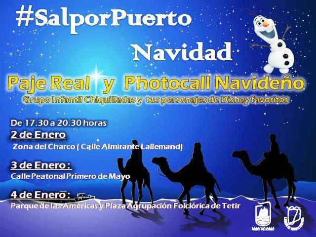 El paje de los Reyes Magos visitará las zonas comerciales de Puerto del Rosario los dias 2, 3 y 4 de enero