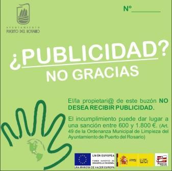 EL AYUNTAMIENTO INICIA UNA NUEVA CAMPAÑA CONTRA LA PUBLICIDAD INDISCRIMINADA EN LOS BUZONES