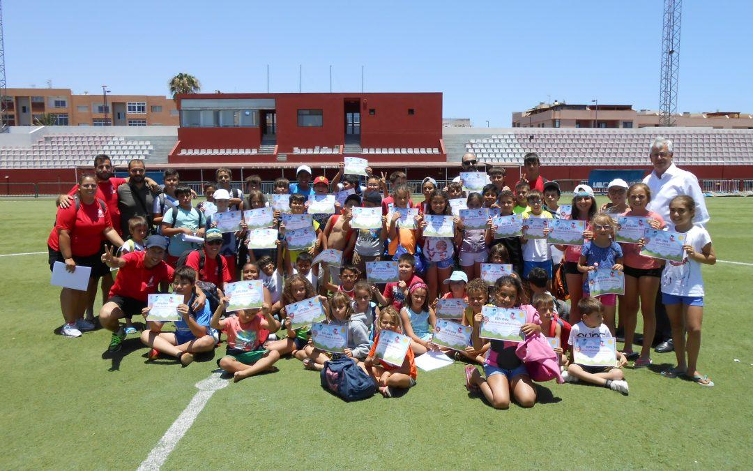 Clausura del primer turno de las Escuelas Deportivas de Verano