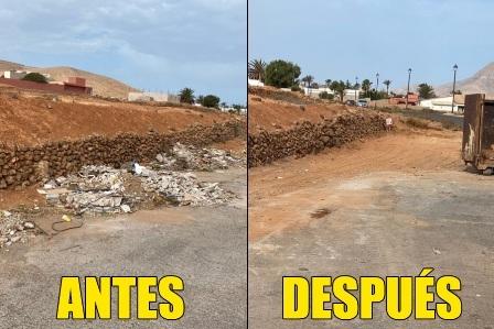 Puerto del Rosario retira basura y escombros acumulados en los pueblos del municipio
