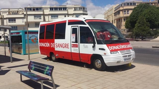 El Ayuntamiento de Puerto del Rosario recuerda que la unidad móvil de donación de sangre se encuentra esta semana en el municipio