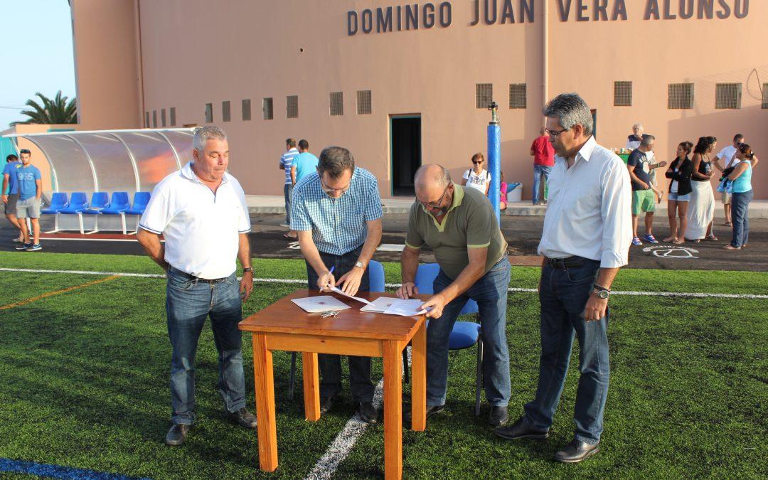Acuerdo entre Ayto y el Tetir F.C. para el mantenimiento del Campo de Futbol