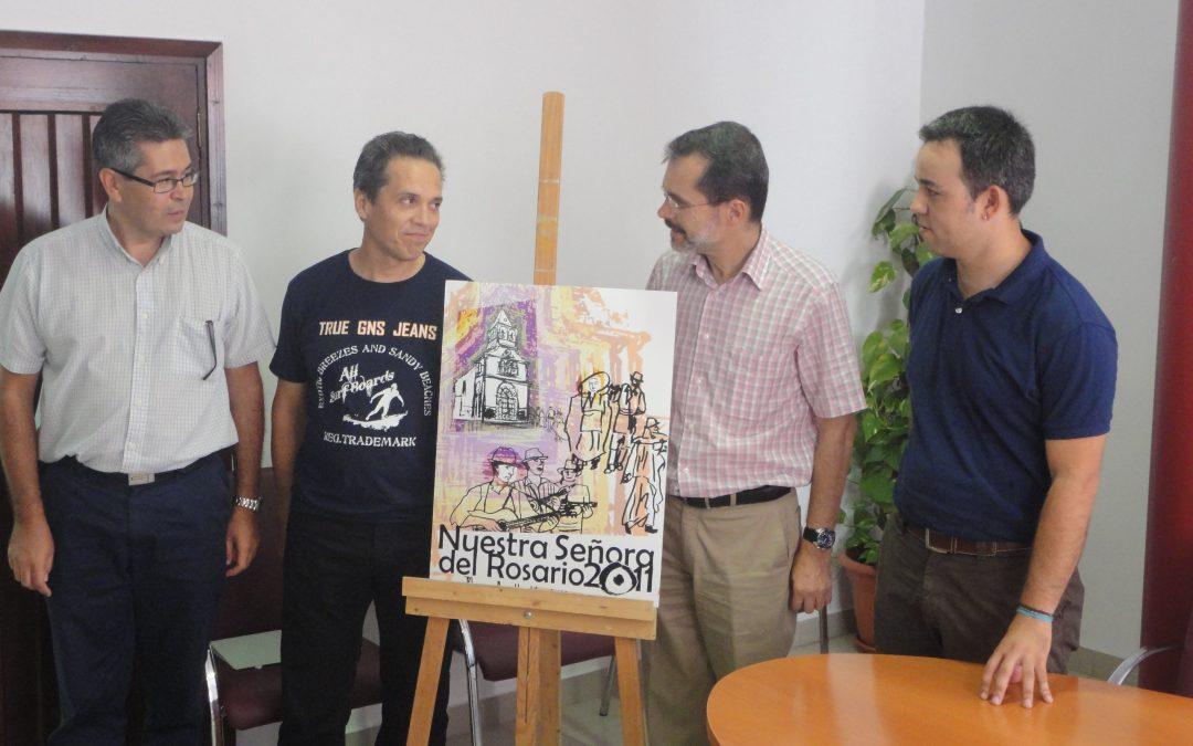 """EDUARDO OMAR LAMBERTI CON LA ALEGORÍA """"VOLVER"""" ES EL AUTOR DEL CARTEL DE LAS """"FIESTAS DEL ROSARIO 2011"""".EL """"III FESTIVAL DE LA CANCIÓN  ISLA DE FUERTEVENTURA"""" Y EL  I CAMPEONATO DE HIP-HOP Y FUNKY SE INCLUYEN EN EL PROGRAMA."""