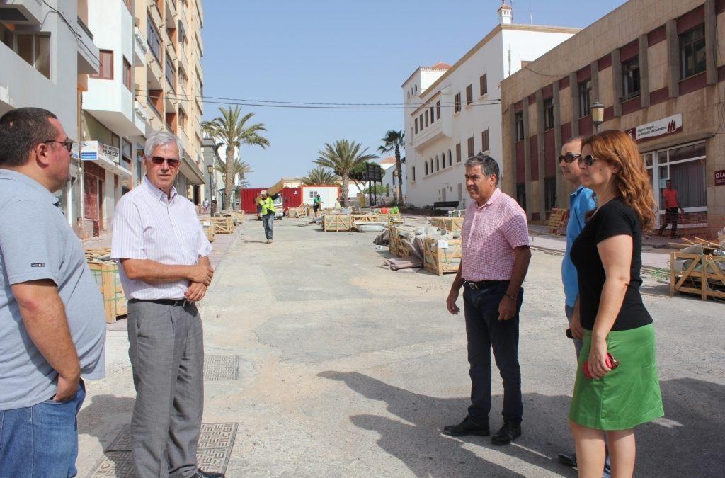 Visita a las obras de las calles Virgen del Rosario, García Escámez
