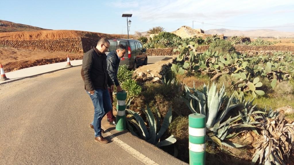 Mejoras en la travesía del pueblo de Almácigo