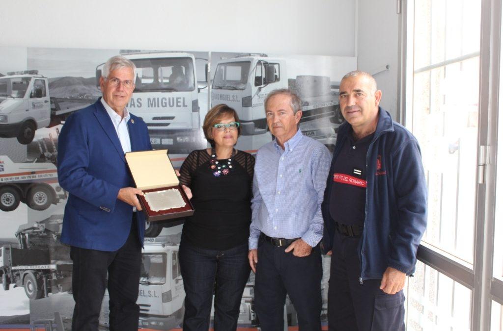 Agradecimiento a empresas colaboradoras con el Cuerpo de Bomberos