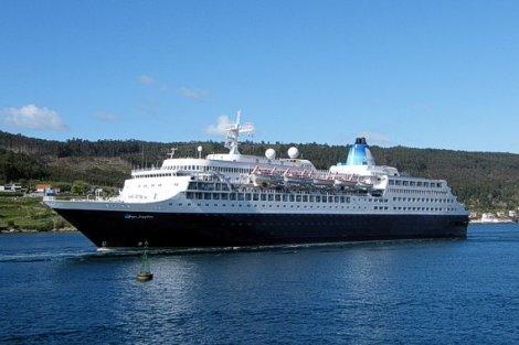 Cuatro cruceros esta semana en Puerto del Rosario. En la imagen el «Saga Sapphire»