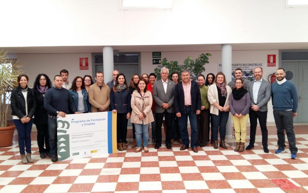 Presentación  PFAE «Puerto Dinamiza II» para formar Informadores Turísticos